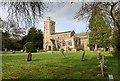ST8554 : St Nicholas' church - North Bradley by Mike Searle