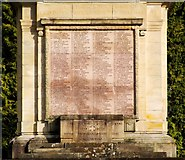 NS2982 : War Memorial in Hermitage Park (detail) by Lairich Rig