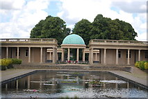 TG2007 : Bandstand and colonnade across the Lily Pond, Eaton Park by N Chadwick