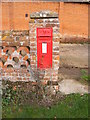 TM1674 : Burnt House Hoxne Road Victorian Postbox by Adrian Cable