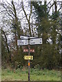 TM1674 : Roadsign  on the B1117 Hoxne Road by Adrian Cable