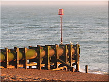 TQ8109 : Outfall on Pelham Beach by Oast House Archive