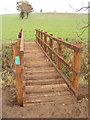 TM1873 : Footbridge of the footpath to Hoxne Road, Denham Green by Adrian Cable