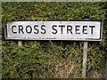 TM1876 : Cross Street sign by Adrian Cable