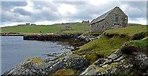 HU4869 : Lunna Pier with Lunna  House in background by Robert W Watt