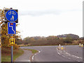 SJ7321 : National Cycle Route 75 meets the A41 by Row17