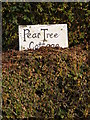 TM2375 : Peartree Cottage sign by Adrian Cable