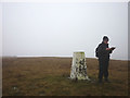 SD7782 : Blea Moor summit. Where to next? by Karl and Ali