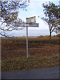 TM3667 : Roadsign on Rendham Road by Adrian Cable