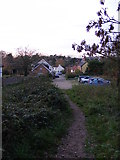 TM4077 : Footpath to Blyford Lane by Adrian Cable