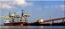 NZ5425 : Japanese bulk carrier discharging iron ore by Robert W Watt
