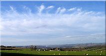 NZ0859 : Mares tails over Hedley Park farm by Robert W Watt