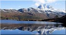 NH0068 : Siloch reflected in Loch Marie by Robert W Watt