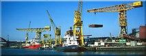 NZ4057 : Shipbuilding at Sunderland by Robert W Watt
