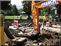 SP3165 : Excavating the trench for a sewer by Robin Stott