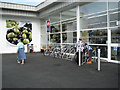 SP2965 : New cycle racks, extended Tesco Warwick by Robin Stott