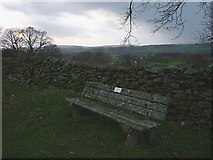 SD6382 : Memorial bench, Banneriggs Brow above Barbon by Karl and Ali