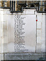 TL1829 : Hitchin War Memorial - Great War Panel - G to H by John Lucas