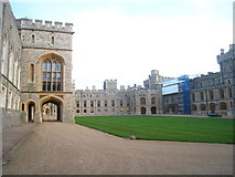 SU9777 : The Upper Ward - Windsor Castle by Given Up