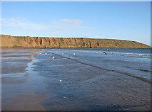 TA1281 : Ebbing tide, Filey by Pauline E