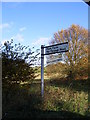 TM2075 : Roadsign to Park Farm by Adrian Cable