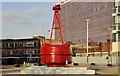 "J3474 : The ""Obel"" buoy, Belfast (2) by Albert Bridge"