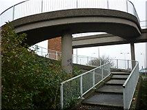 TA0827 : A footbridge over the A63 by Ian S