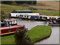 SP3493 : Boatyard beside Coventry Canal by Trevor Littlewood