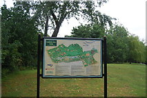 SP0683 : Signpost, Cannon Hill Park by N Chadwick