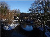SS8983 : Rail bridge at Aberkenfig by John Finch