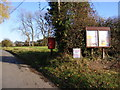 TM2177 : Notice Board & Village Hall Postbox by Adrian Cable