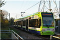 TQ2668 : Phipps Bridge tram stop: learner driver by Christopher Hilton