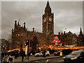 SJ8398 : Christmas Market, Manchester Town Hall by David Dixon
