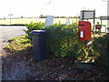 TM2673 : Ashfield Green Postbox by Adrian Cable