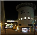 TQ8109 : Priory Meadow Shopping Centre at night by Oast House Archive