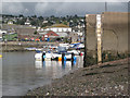 SX9372 : Tide gauge at low tide, river beach, Teignmouth by Robin Stott