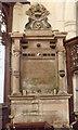 TF5061 : Memorial to William Bond, Croft church by J.Hannan-Briggs