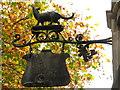 TQ2579 : Sign for the (former) Ye Civet Cat, Kensington Church Street, W8 by Mike Quinn
