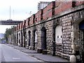 NZ2463 : Pottery Lane towards Redheugh Bridge by Andrew Curtis