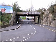 NZ2463 : Railway Bridge, Redheugh Bridge Road by Andrew Curtis