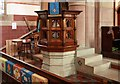 TQ3196 : St Mary Magdalene, Windmill Hill, Enfield - Pulpit by John Salmon