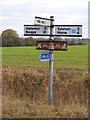 TM2380 : Roadsign on Wingfield Road by Geographer