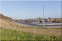 SU4726 : South Winchester Park and Ride by Peter Facey