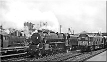 SK3635 : Contrasts of Steam with Diesel at Derby Station by Ben Brooksbank
