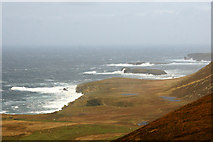HP5708 : Coastline north of Collaster from Clammel Knowes on Valla Field by Mike Pennington