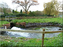 SU4828 : Sluice from the Itchen Navigation by Shazz