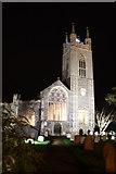 TM3389 : Bungay St Mary's Church at night by Glen Denny