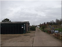 TQ7868 : Track into Woodlands Road Allotments by David Anstiss