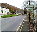SO5204 : Roadside signs on the A466, Llandogo by Jaggery