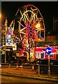 SO8555 : Worcester Victorian Christmas Fayre 2011 (6) - Ferris wheel, Queen Street, Worcester by P L Chadwick